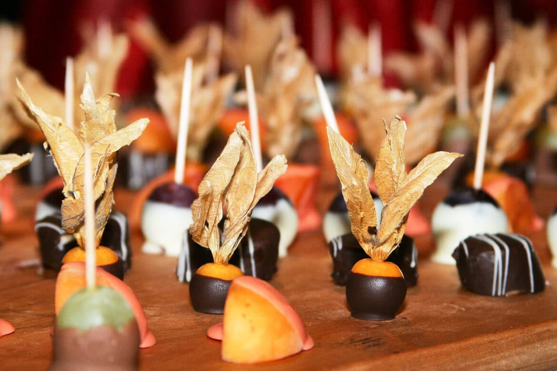 Obsthäppchen mit Schokolade - Wildland Natural Resort Wietze © Hochzeitsfotograf www.hochzeitsverliebt.de