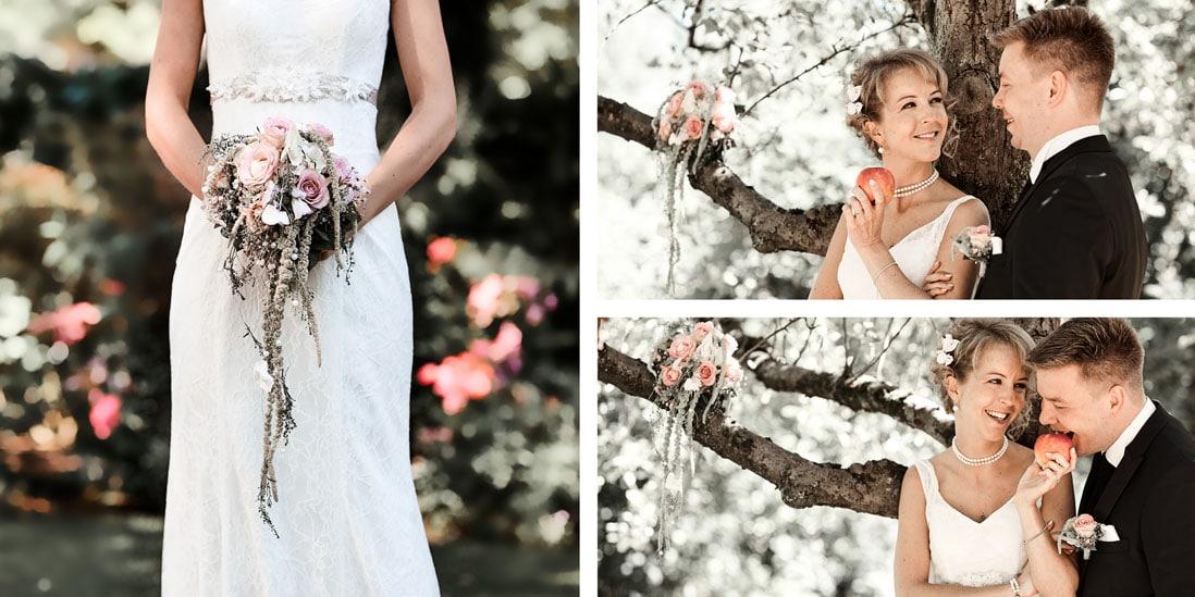Hochzeitsalbum mit Brautpaar am Baum - © Hochzeitsfotograf www.hochzeitsverliebt.de