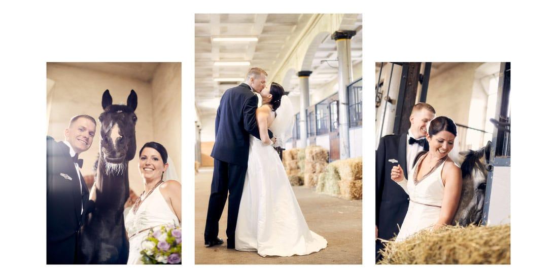 Hochzeitsfotobuch mit Bildern im Reitstall - © Hochzeitsfotograf www.hochzeitsverliebt.de