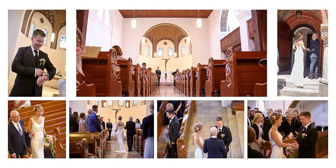 Hochzeitsalbum mit Brautpaar in Kirche - © Hochzeitsfotograf www.hochzeitsverliebt.de