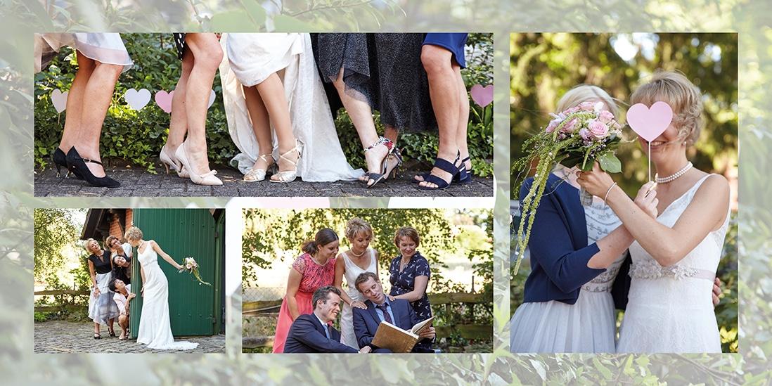 Doppelseite Fotobuch Hochzeit im Grünen- © Hochzeitsfotograf www.hochzeitsverliebt.de