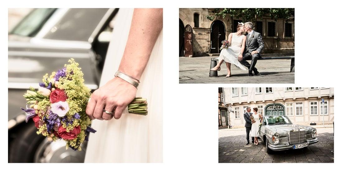 Detailseite vom Hochzeitsalbum aus der Innenstadt Celle - © Hochzeitsfotograf www.hochzeitsverliebt.de