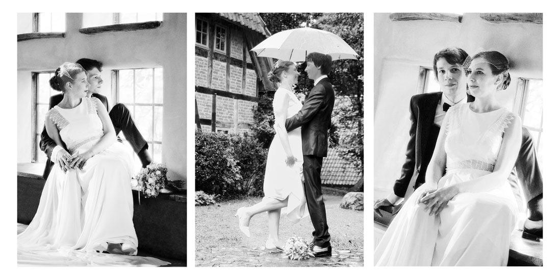 Gestaltung eines Hochzeitsfotoalbum in schwarzweiss - © Hochzeitsfotograf www.hochzeitsverliebt.de