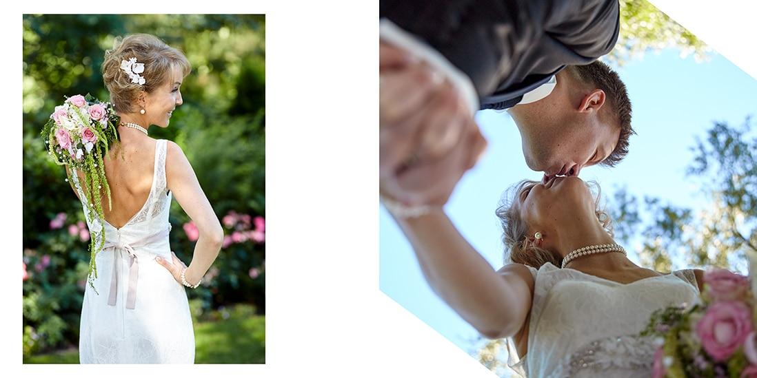 Hochzeitsalbum mit weisser Hintergrundgestaltung - © Hochzeitsfotograf www.hochzeitsverliebt.de