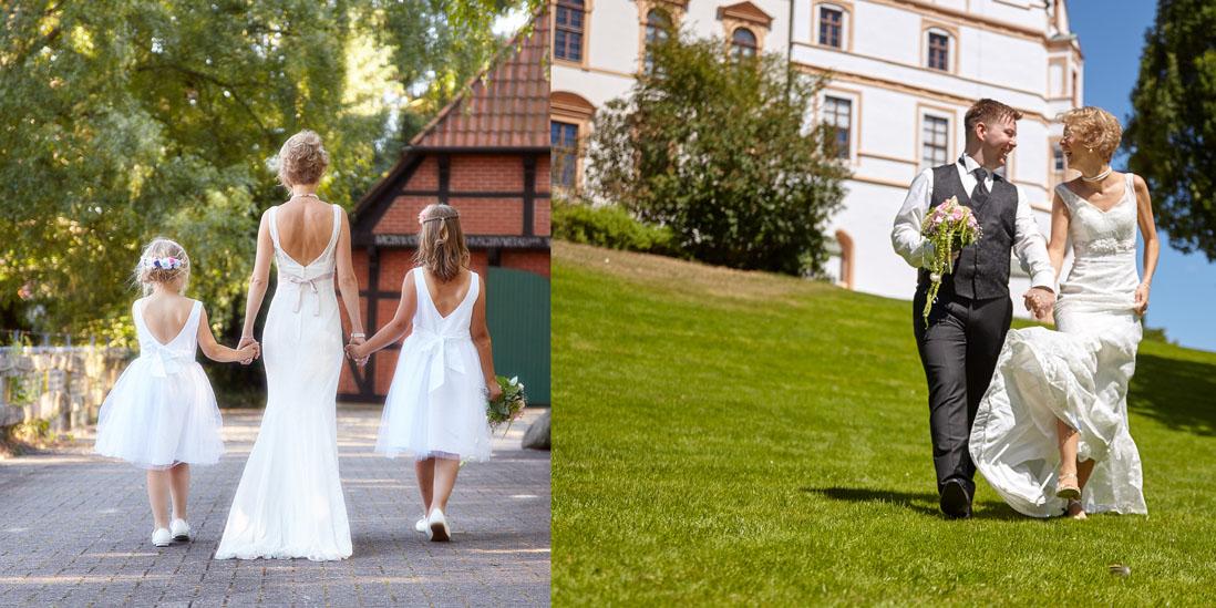 Fotobuch Hochzeit Innenseite im Grünen - © Hochzeitsfotograf www.hochzeitsverliebt.de