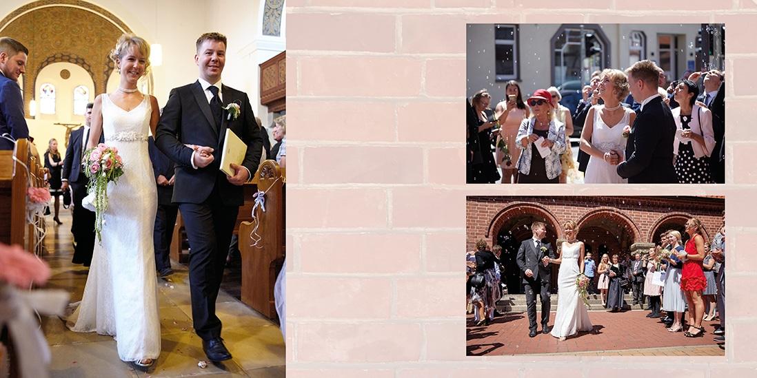 Fotobuch Hochzeit Innenseite mit Gäsaten - © Hochzeitsfotograf www.hochzeitsverliebt.de